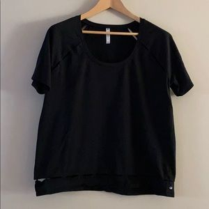 Fabletics Black Cut-Out Boxy Tee Size XL